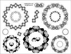 Stamping Scrapping Clear Stamps Anglaise Lace SMS3036