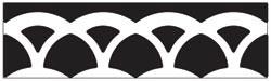 Martha Stewart Border - Stanzer layered arches 42-40058