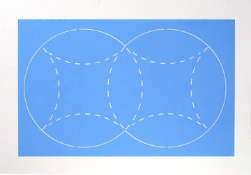 Schablone Kissen-Schachtel 33350 ( Pergamano ) ( blau )