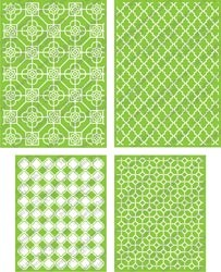 Cuttlebug Prägefolder-Set 4-er Decorative Tile 2001395