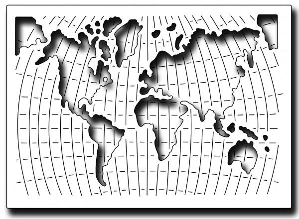 Frantic Stampers Stanzform Weltkarte / World Map FRA-DIE-10356