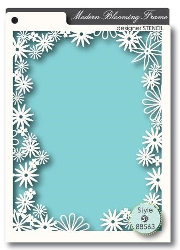 Memory Box Stencil Blooming Frame 88563