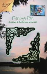 Joycrafts Stanz-u.Prägeform Fishing fun Ecken 6002/0188(dunkelgr