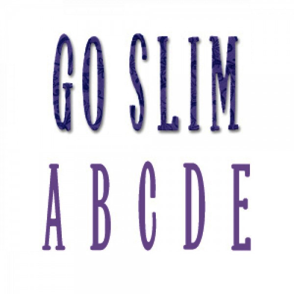 Ellison Design Stanzform Thick Cuts Alphabet Go Slim Großbuchstaben 5,1 cm 22505