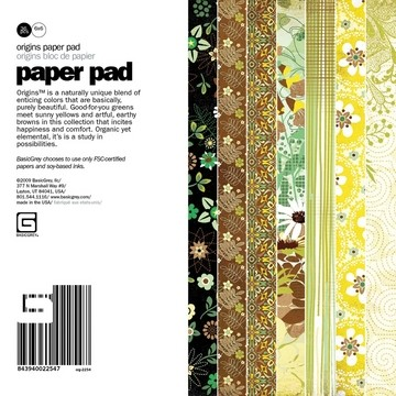 Paper Pad Origins 15,2 cm x 15,2 cm org-2254