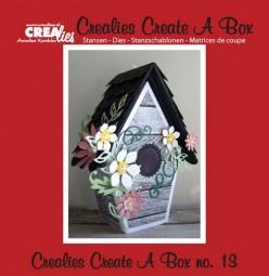 Crealies Stanzform Create A Box Nr. 13 Vogelhäuschen / Voliere CCAB13