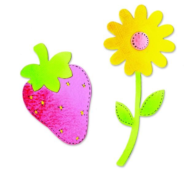 Sizzix Stanzform BIGZ Blume u. Erdbeere / flower & strawberry 655913
