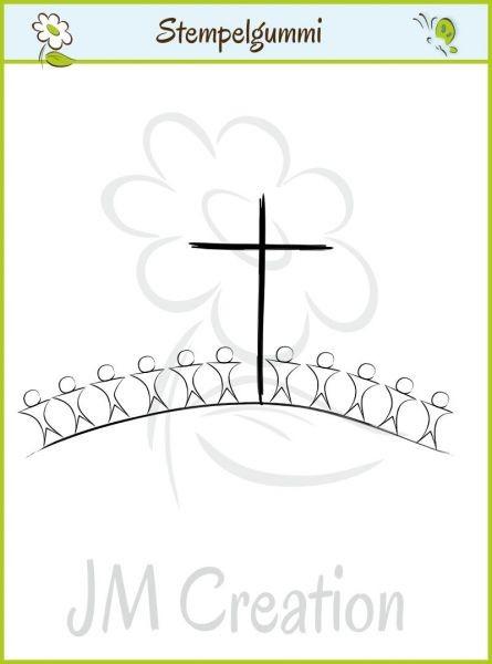 JM-Creation Stempelgummi Kinder mit Kreuz 07-00164