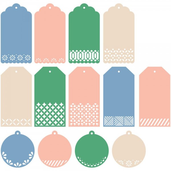 Pinkfresh Studio Stanzform Classic Tags With Fillable Elements PF007ES