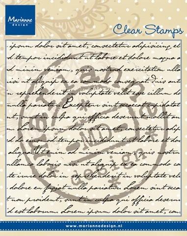 Marianne D Clear Stempel Handschrift / Text CS0940