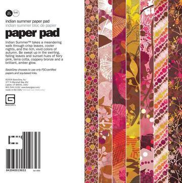 Paper Pad Indian Summer 15,2 cm x 15,2 cm IND-1965