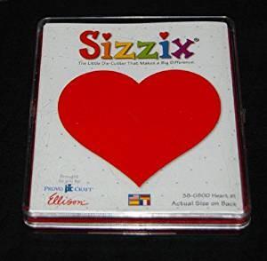 Sizzix Stanzform Originals LARGE Herz # 1 / heart # 1 38-0800 / 654650
