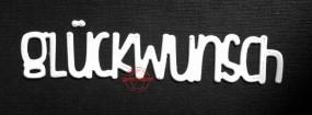 Gummiapan Stanzform Wort ' glückwunsch ' D160903