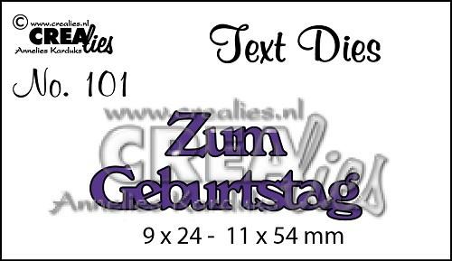 Crealies Stanzform Text Zum Geburtstag CLTSS101