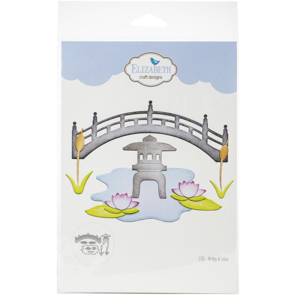 Bridge /& Lotus ELIZABETH CRAFT DESIGNS 1731 ELIZABETH CRAFT DIE BRIDGE /&