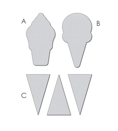 WPlus9Design Stanzform Eis-tüten / Pile It On WP9D-003