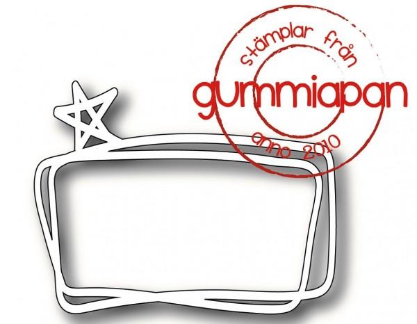 Gummiapan Stanzform Rahmen mit Stern / Stjärnram D190348