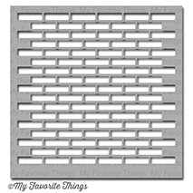 Dienamics Stencil Plastik-Schablone Mauer / Small Brick Wall ST-46