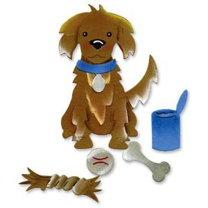 Sizzix Stanzform Originals LARGE Hund / dog & dog toys 655026