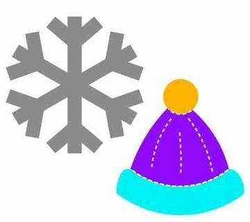 AccuCut Zip'e Slim Stanzform MEDIUM Schneeflocke & Mütze / Snowflake & Cap 42018