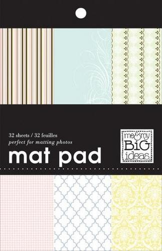 "Me & My Big Ideas Mat Pad Papierblock Pastel 5 "" x 7 "" = 12,7 cm x 17,8 cm MPS-12"
