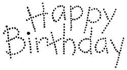 "Stempel "" Happy Birthday "" gepunktet L126 Birthday Dots"
