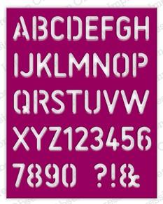 Impression Obsession Stanzform Stencil Alphabet DIE227-W