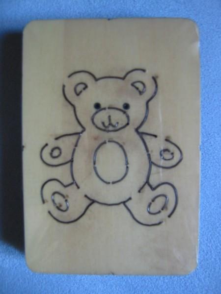 Teddybär # 2 / teddy bear # 2 C-F195 XS 6 cm