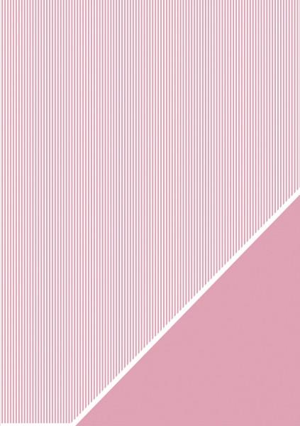 Rayher Bastelkarton Streifen A 4 BABY - ROSA 80-588-262
