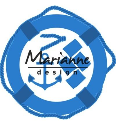 Marianne D Stanz-u. Prägeform Rettungsring, u. Anker / Nautical Set LR0532