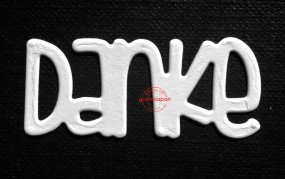 Gummiapan Stanzform Wort ' Danke ' D160901