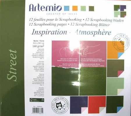 Papier-Set zweifarbig 30,5 x 30,5 cm STREET 11008024 ( 12 Blatt