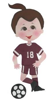 Bosskut Stanzform Fußball-Uniform / soccer uniform 0762