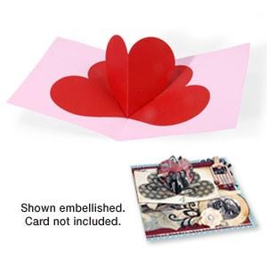 Sizzix Stanzform BIGZ XL Karte Herz 3-D / card heart 3-D 656026