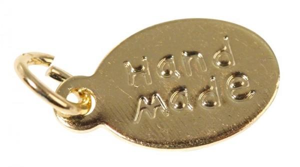 "Anhänger oval GOLD "" handmade "" 2156906"