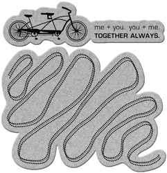 "Slapstick Stamps "" Together always "" mit Fahrrad u. Schlangerout"