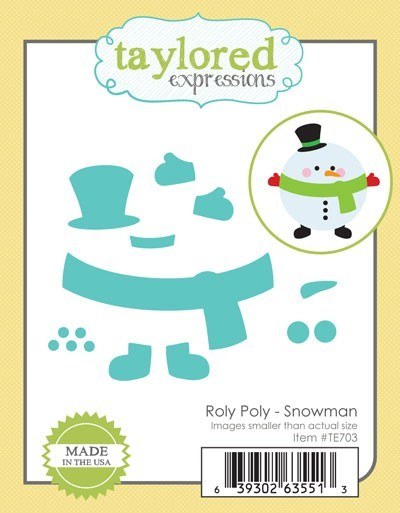 Taylored Expressions Stanzform Schneemann / Roly Poly Snowman TE703