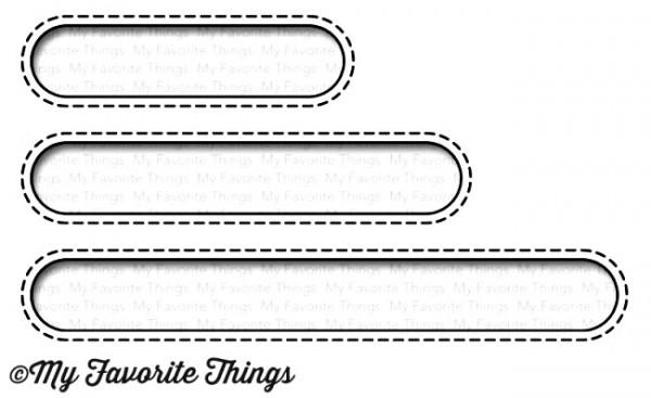 Dienamics Stanzform Stitched Oval Word Windows MFT-1084