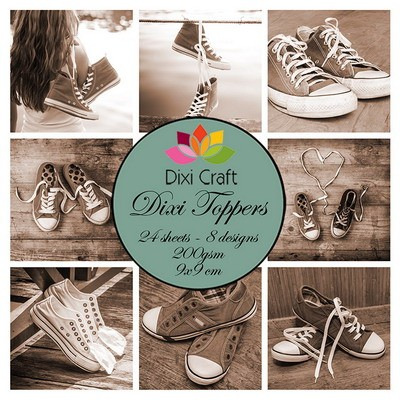 Dixi Craft Paperpad Dixi Toppers 9 x 9 cm Sneakers SEPIA / Sneakers SEPIA ET0286