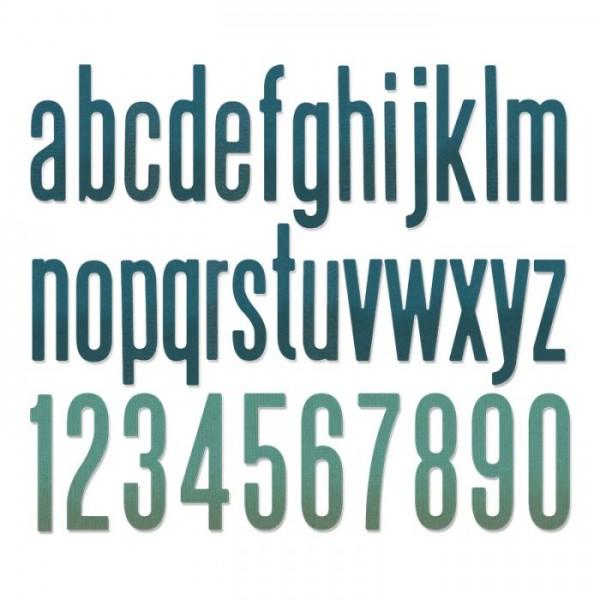 Sizzix Stanzform Thinlits Alphabet Kleinbuchstaben u.Zahlen 3,8 cm/Alphanumeric Classic Lower 664224