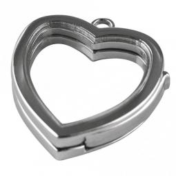 Medaillon Herz 25 mm silber zum Befüllen 22-304-22