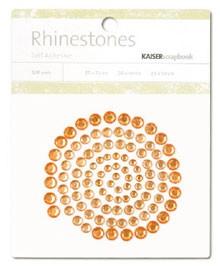 Rhinestones / Glitzersteine selbstklebend ORANGE SB710