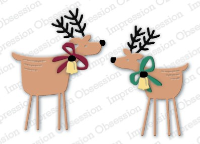 Impression Obsession Stanzform Hirsch-Duo / Two Folk Deer DIE904-O