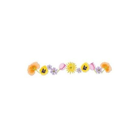 Sizzix Stanzform Sizzlits Border Blumen / flowers 38-8087 / 654467
