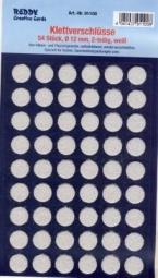 Klettpunkte rund selbstklebend WEISS 12 mm (54 Paar) 91100