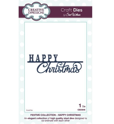 Creative Expressions Stanzform ' Happy Christmas ' CED3046