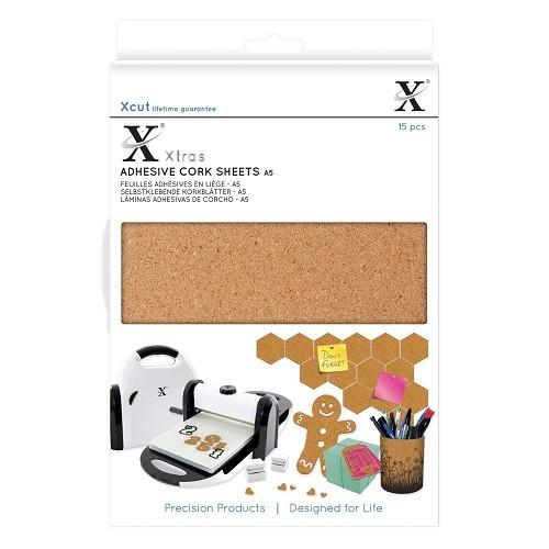 XCut A 5 Kork-Blätter selbstklebend ( 15 x ) XCU 174403