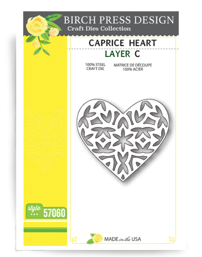 Birch Press Design Stanzform Caprice Herz C / Caprice Heart Layer C 57060