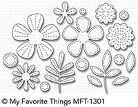 Dienamics Stanzform Blumen mit Nähnaht / Stitched Blooms MFT-1301