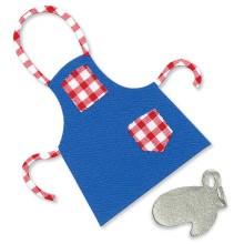 Sizzix Stanzform Originals LARGE Küchenschürze u. Handschuh / apron & mitt 655015